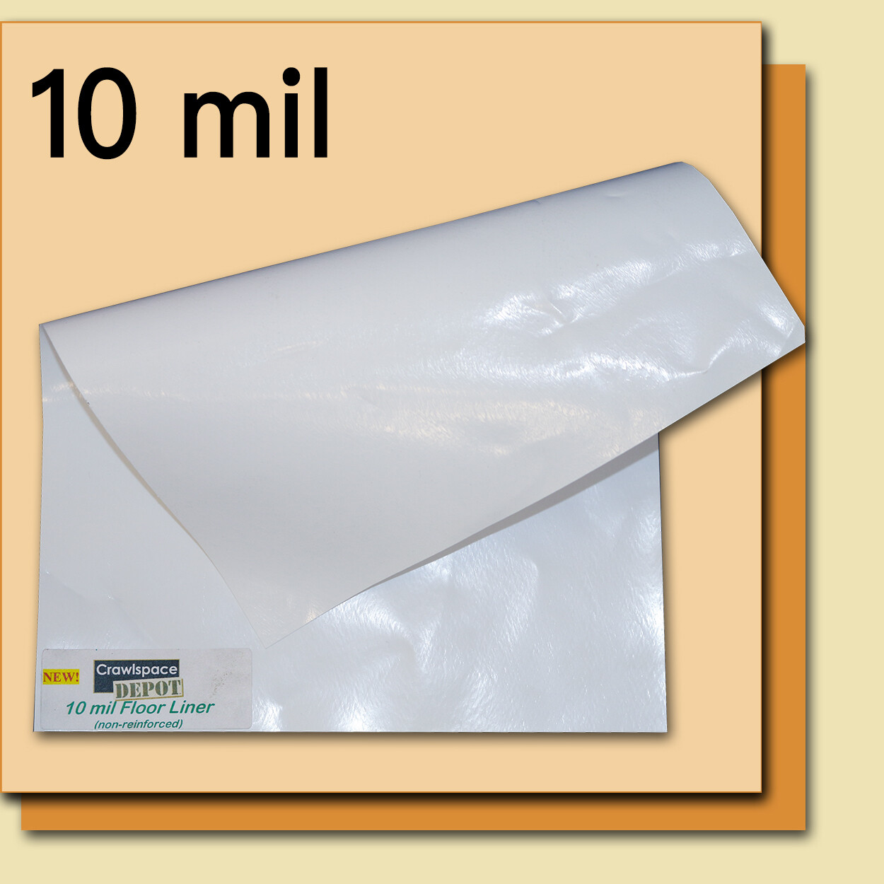 10 Mil Crawl Space Liner - 12' x 100' Roll - White