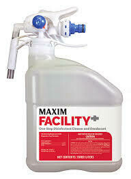 MAXIM Facility+ One Step Concentrated Disinfectant Cleaner and Deodorant (Case of 2, 3L jug w/dilution trigger & secondary labels) by Midlab