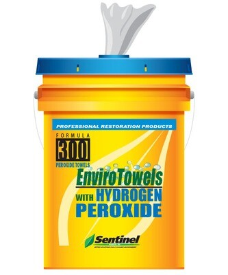 EnviroTowels with Hydrogen Peroxide, 290 wipes/bucket by Sentinel