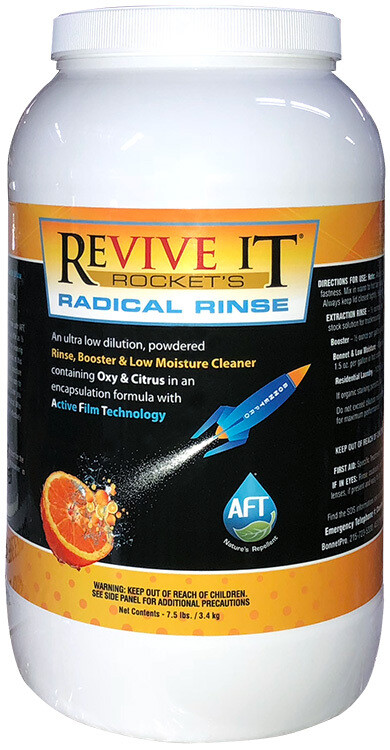 Revive It Rocket Radical Rinse, Powdered Encap Extraction Rinse, Booster and Low Moisture Cleaner (7.5lb Jar) by Bonnet Pro