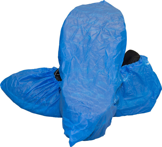 Blue Cast Polyethylene Shoe Cover (Size XL) by The Safety Zone