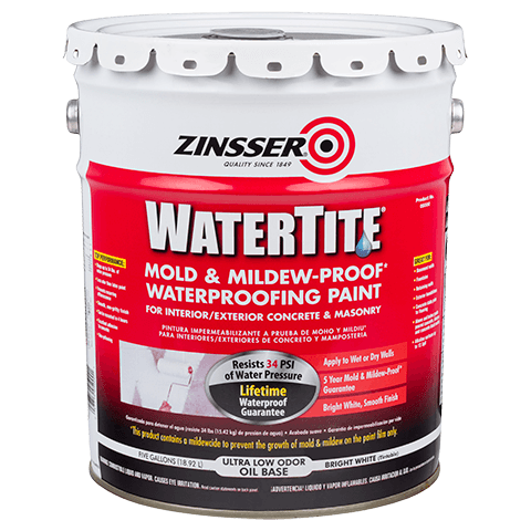 ZINSSER WATERTITE Mold & Mildew-Proof Waterproofing Paint