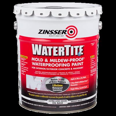 ZINSSER WATERTITE Mold & Mildew-Proof Waterproofing Paint