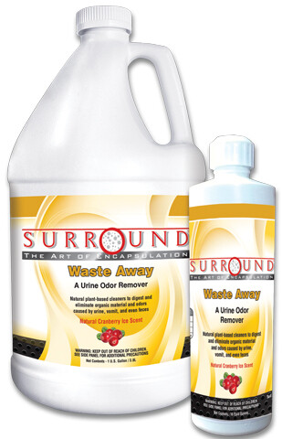 Bonnet Pro's Waste Away Urine Stain Remover. (16oz) Cranberry Ice Scent