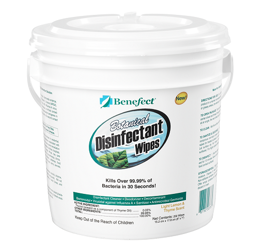Benefect Botanical Disinfectant Wipes, Single Jar