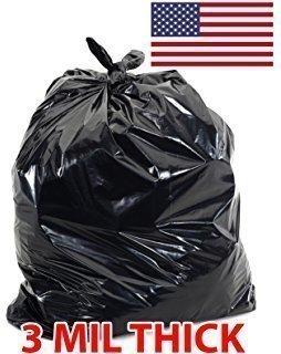 3 Mil Black Flap Tie Contractor Bags 42gl | 20-Count