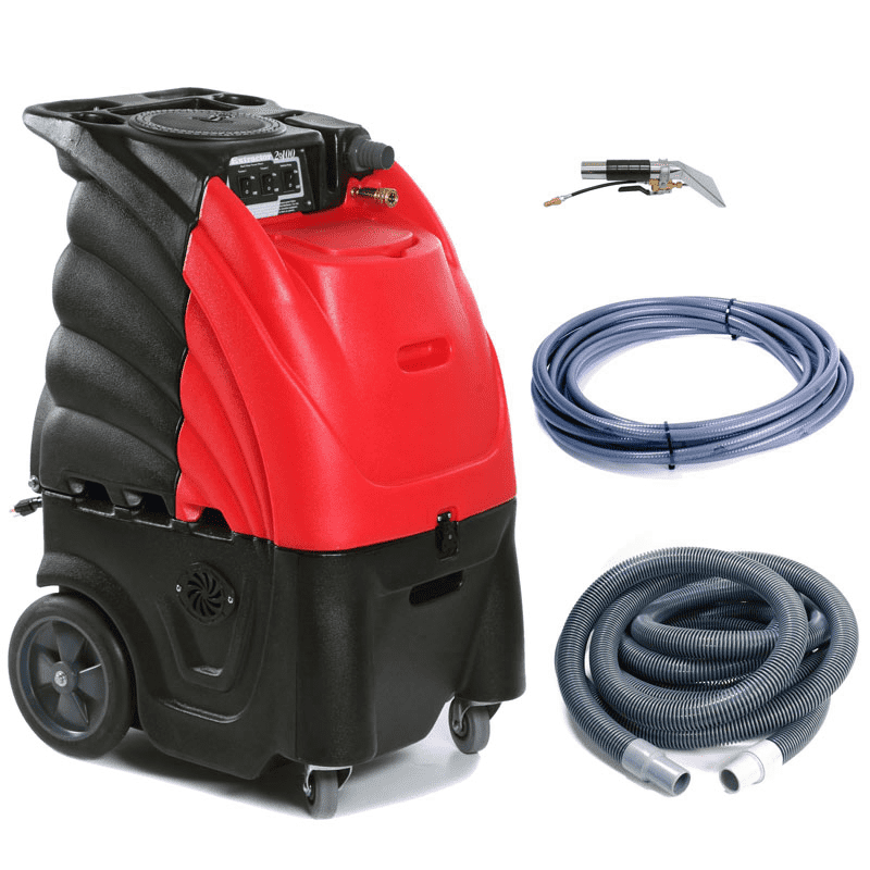 12 Gallon Indy Extractor(Red) 100 PSI w/ Heat-includes hoses and 4' Stainless Steel Upholstery Tool