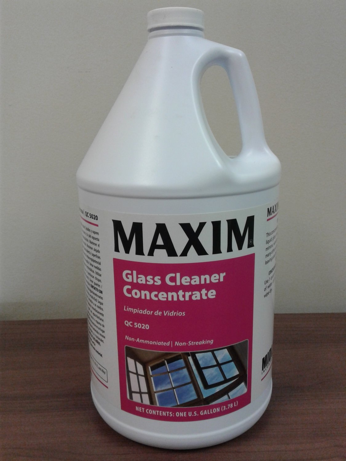 MAXIM Glass Cleaner Concentrate (Gallon) by MidLab | Multi-Surface Cleaner
