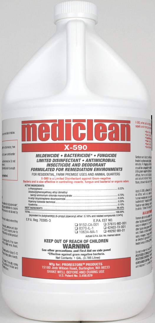 MediClean X-590 Institutional Spray, Gl