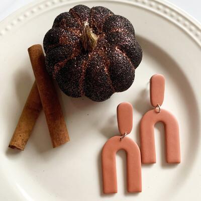 The Katie Earring - Pumpkin Spice