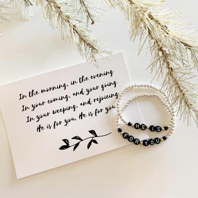 """He is For You"" Bracelet Set"