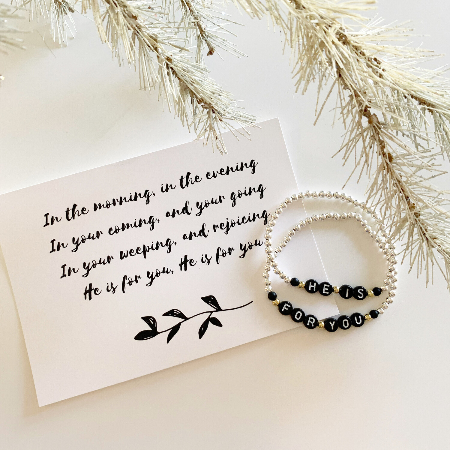 """He is For You"" Bracelet Set"
