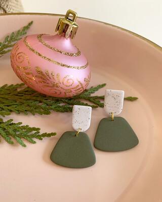 The Jesi Earring in Olive Green