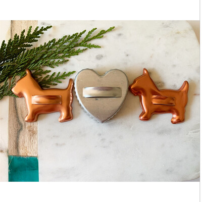 Vintage Cookie Cutter Set- Two Scottie Dogs And A Heart