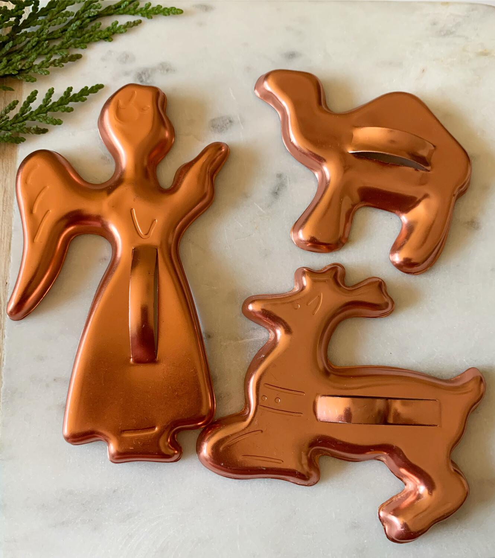 Vintage Cookie Cutter Set - Angel, Reindeer And Camel