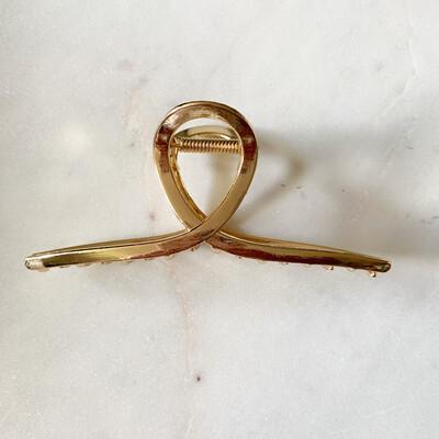 Gold Twist Hair Clip