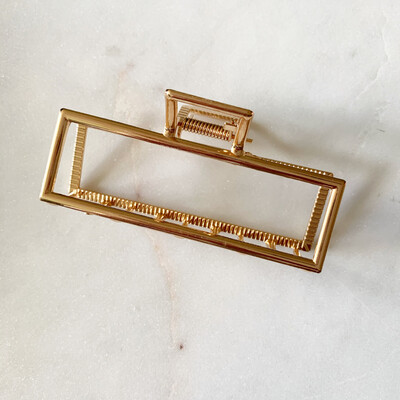 Gold Square Hair Clip