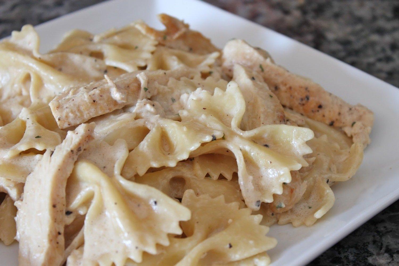 Bowtie Pasta & Chicken Alfredo