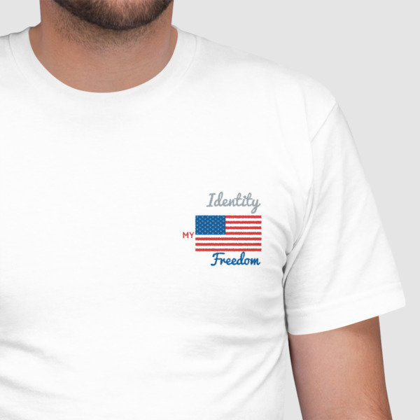 My Identity- Freedom Embroidered T-Shirt