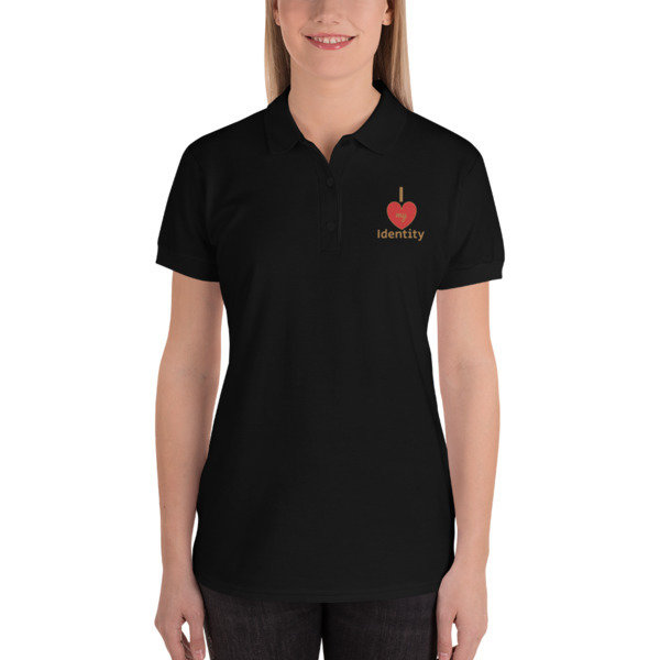 I Love my Identity Embroidered Women's Polo Shirt