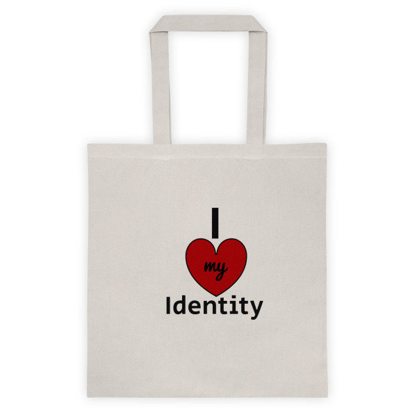 I Love my Identity Tote bag