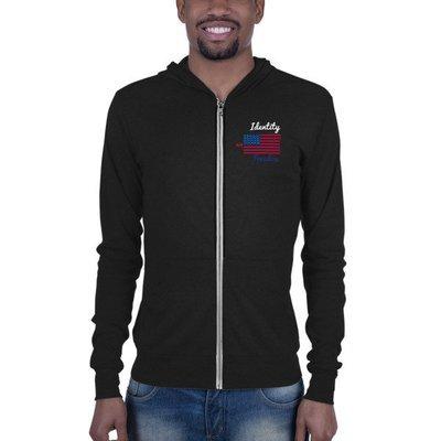My Identity Freedom Unisex zip hoodie