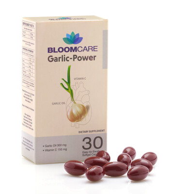 Bloomcare Garlic-Power With Vit C 30 Softgels