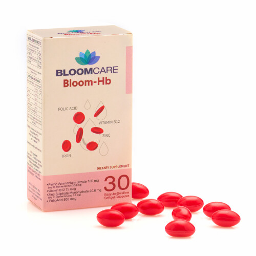 Bloomcare Bloom-Hb 30 Softgels Iron Supplement