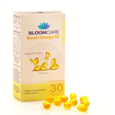 Bloomcare Bloom Omega-D3 30 Softgels