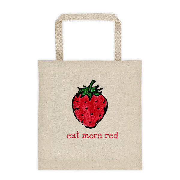 Tote bag - eat more red