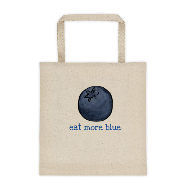 Tote bag - eat more blue