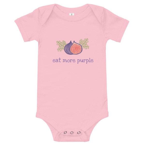 Baby Onesie - Eat More Purple