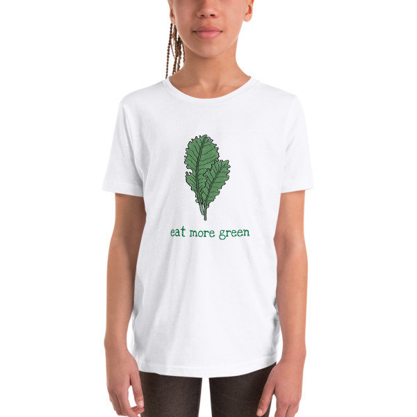 Youth Short Sleeve T-Shirt - Eat More Green