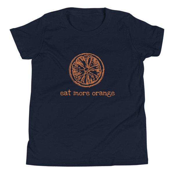 Youth Short Sleeve T-Shirt - Eat More Orange