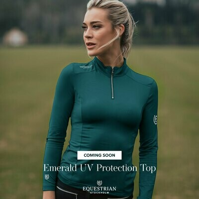 Equestrian Stockholm UV protection top Emerald