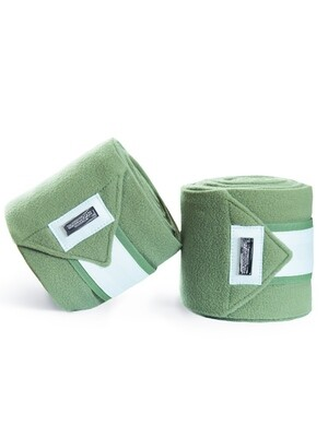 Fleece bandages Pistachio White