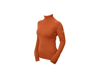 Knitted Polo Top Bronze Gold