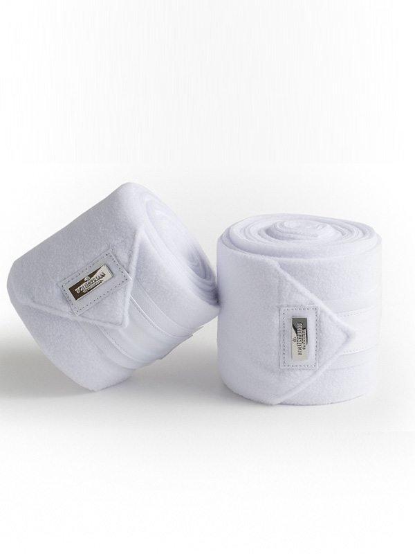 ES Fleece Bandages White Silver
