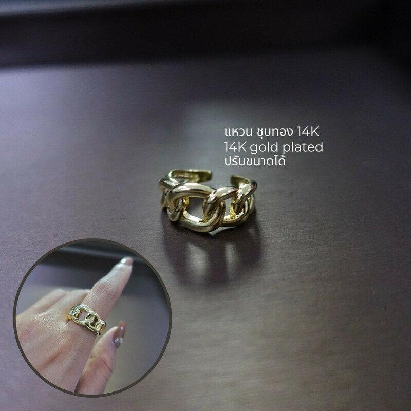 แหวน 14K CZ D=1.8 cm.