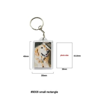#9008 Small Rectangle Keychain