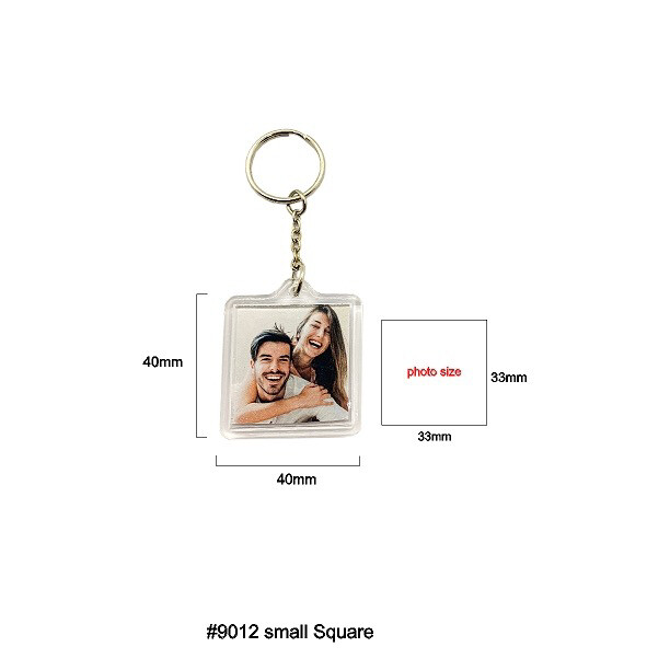#9012 Small square Keychain
