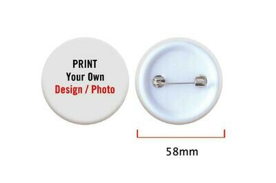 58mm Button Badge with pin