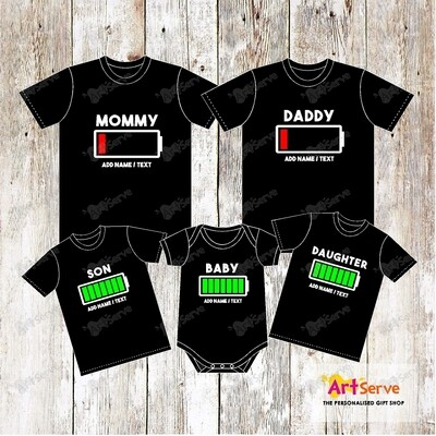 BATTERY family Tshirt
