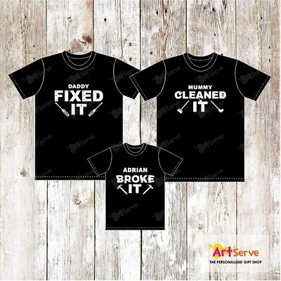 FIX CLEAN BROKE family tee