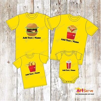The Fast Food Family tee