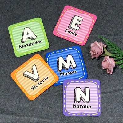 Candy Colour Initials Coasters