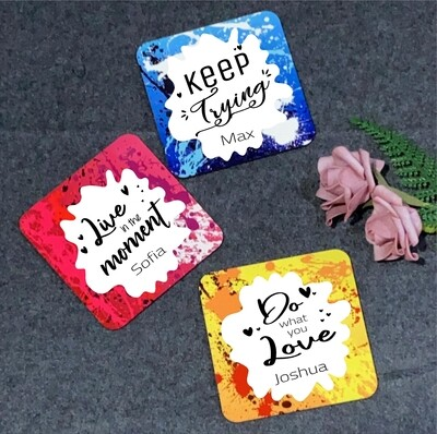 Colourful Quotes Coasters