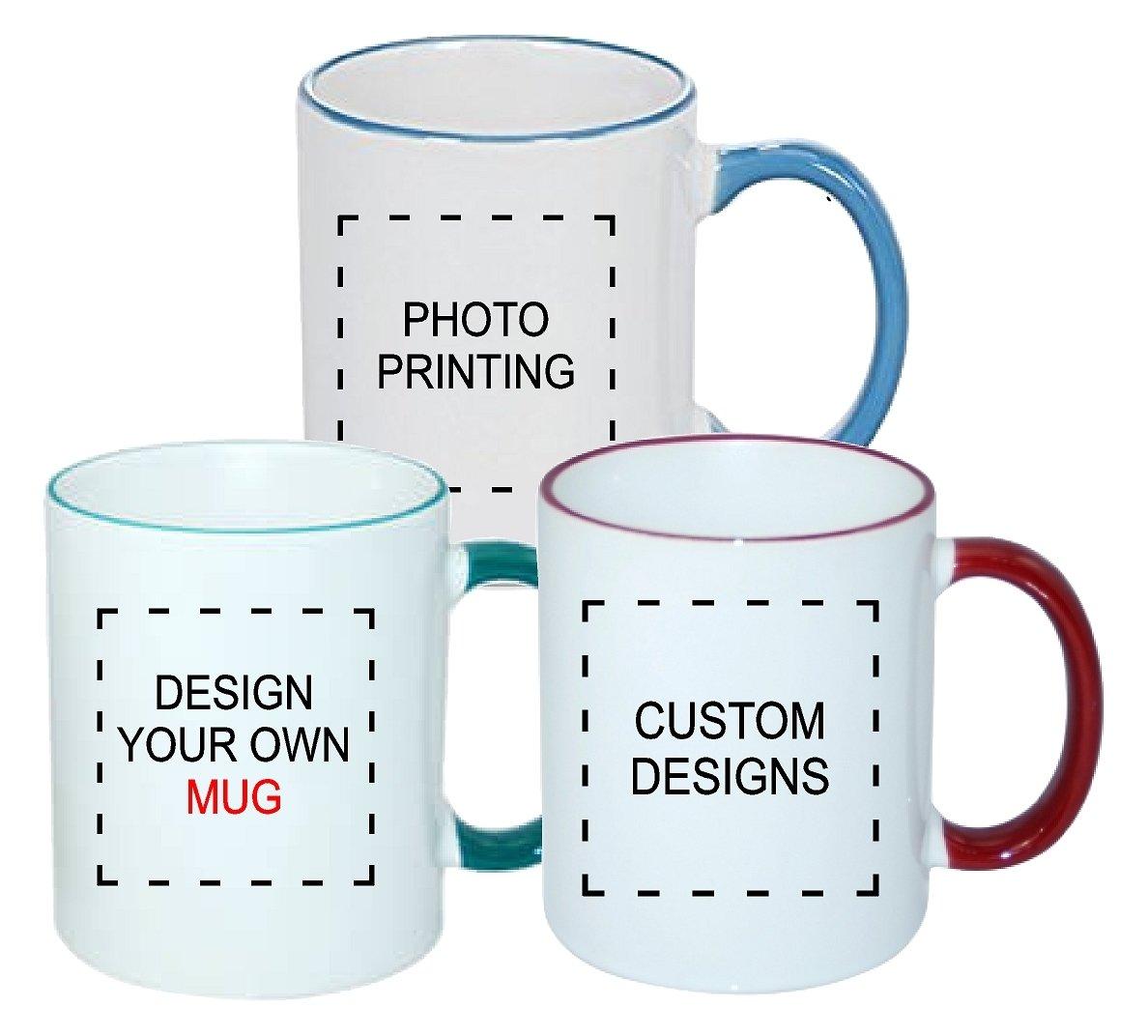 Rim colour 11oz Ceramic Mug