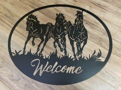 Three Horse Welcome