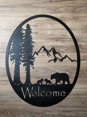 Mamma Bear Welcome Oval